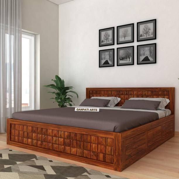 FURINNO Solid Wood Queen Box Bed