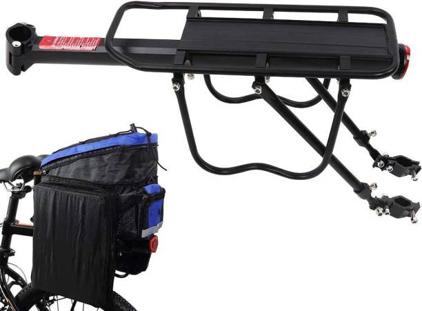 Xezon Bicycle Back Seat Pannier Luggage Cargo Carrier Rack Adjustable Aluminum Alloy Aluminium, Steel  Bicycle Carrier