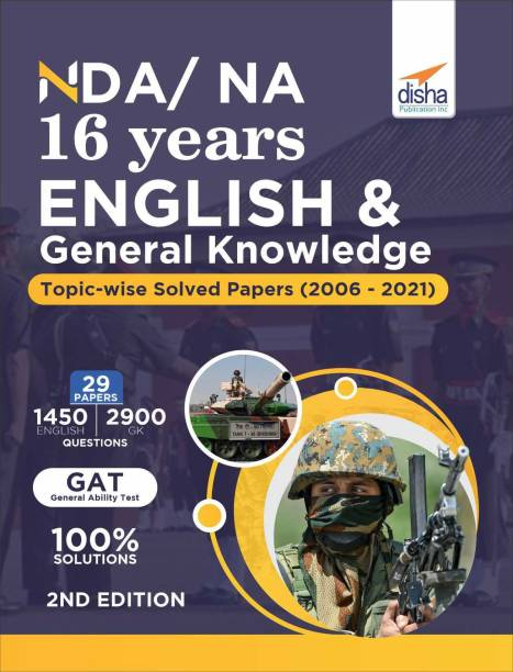 NDA/ NA 16 years English & General Knowledge Topic-wise Solved Papers (2006 - 2021) 2nd Edition