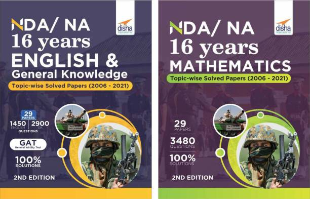 Nda/ Na 16 Years Mathematics, English & General Knowledge Topic-Wise Solved Papers (2006 - 2021)