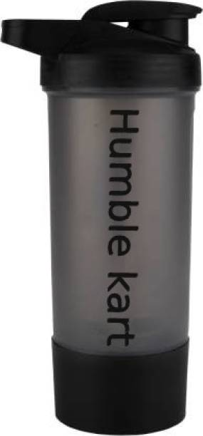 HUMBLE KART by HUMBLE KART BPA Free Gym Bottle with Single Supplement Storage Compartment and Mixer Ball 700 ml Bottle