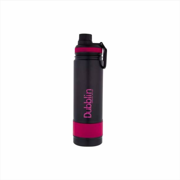 DUBBLIN Trump Stainless Steel Sports Thermos Flask (Pink 750 ML) 750 ml Flask