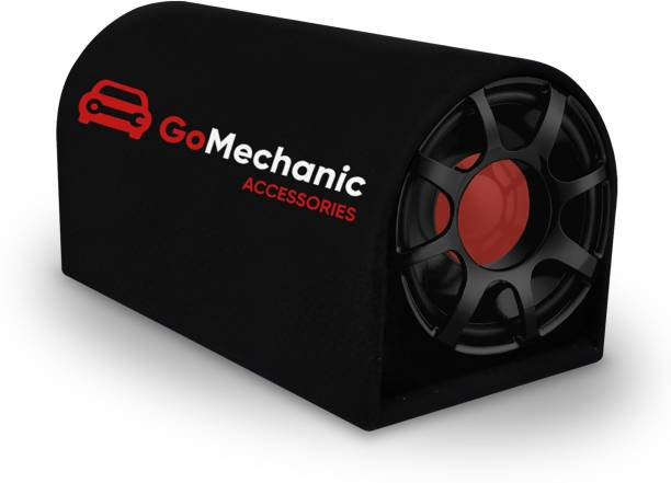 """GoMechanic Rumble -R2 10"""" Active Basstube with 1 Year Warranty & in-Built Amplifier 4900W High O/P for Crystal Clean Low Frequency Bass Response for All Vehicles (Sub-woofer with D Shape Enclosure) Basstube Subwoofer"""