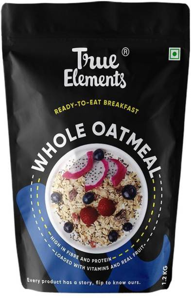 True Elements Whole Oatmeal with Chia and Real Whole Fruits.