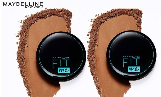 MAYBELLINE NEW YORK FITME SPF28 PA+ COMPACT POWDER 112 NATURAL IVORY 8 G EACH PACK OF 2 Compact