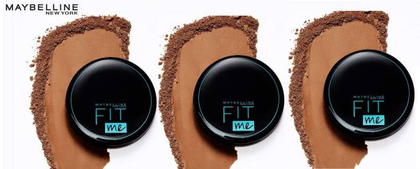 MAYBELLINE NEW YORK FITME SPF28 PA+ COMPACT POWDER 112 NATURAL IVORY 8 G EACH PACK OF 3 Compact