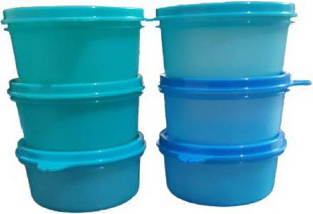 TUPPERWARE Tropical Lunch Box container 200ml Plastic Grocery Container set of 6  - 200 ml Plastic Grocery Container