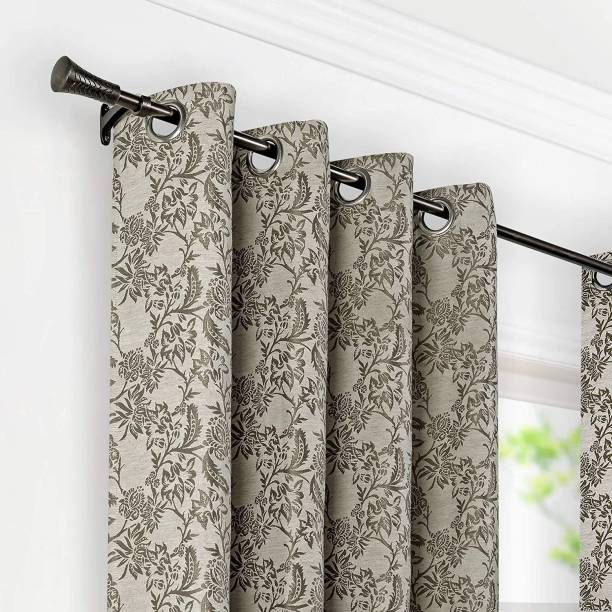 Deco Window Brown Curtain Rods