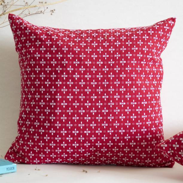 Binary home Embroidered Cushions Cover