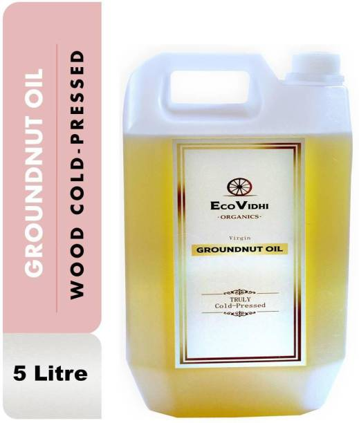 EcoVidhi Organics COLD PRESSED GROUNDNUT / PEANUT OIL (WOOD KACHI GHANI) Groundnut Oil Can
