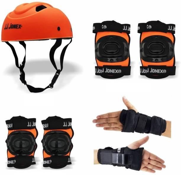 JJ Jonex Skating Protective 1 Helmet,1 set Knee Cap,1 set Elbow Cap,1 Palm cover Skating Kit