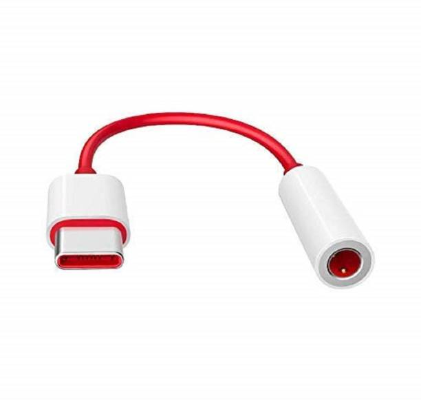 Case Plus Red Type C to 3.5 mm Jack Audio Connector, Noise Cancelling Headphones Jack Converter Audio Adapter for OnePlus 7/7 Pro / 1+6/1+6T - Red (Audio Jack convertor -3 Pack) Phone Converter