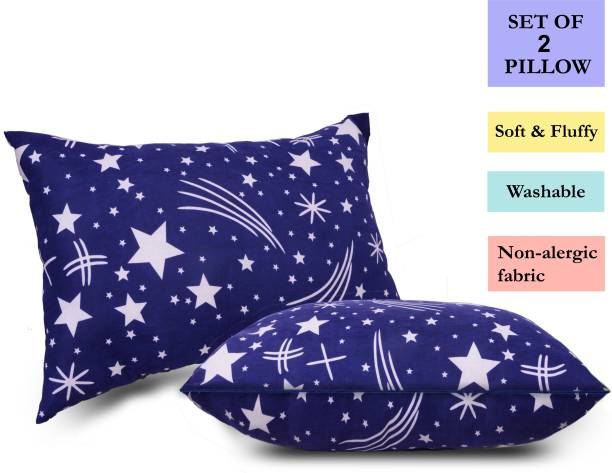 corious Microfibre Abstract, Floral Sleeping Pillow Pack of 2