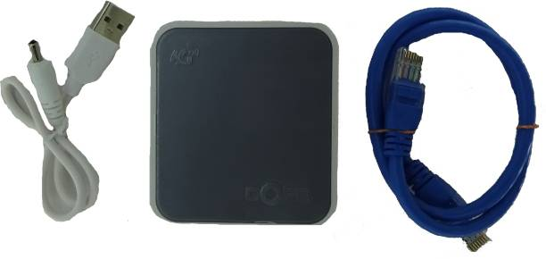 COFE Universal CF-12W-MINI (GY) 4G SIM Based Wifi Router with LAN port || Portable Unlocked 4G Wifi Hotspot Supports All 4G GSM SIM Cards (Airtel, Vodafone, Jio, Idea) for All DVR, NVR, CCTVs, IP Cameras, Bio Metric Devices No Configuration Required 300 Mbps 4G Router