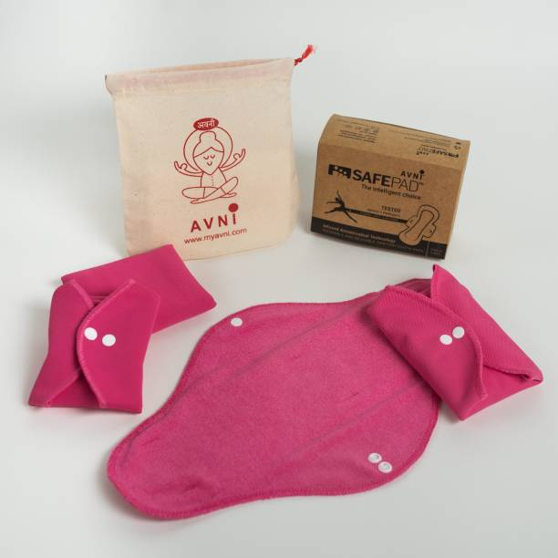 Avni Safepad Antimicrobial (3 Day + 1 Night) Sanitary Pad