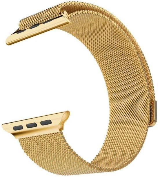 Amtrix Stainless Steel Mesh Loop with Strong Magnet Compatible For iWatch 44mm/42mm Series 6/SE/5/4/3/2/1 Suitable For All Size (S/M/L) Smart Watch Strap