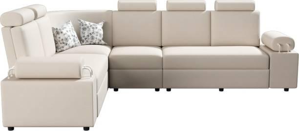 Sekar Lifestyle Leatherette 5 Seater  Sofa
