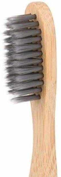 baneberry ECO-FRIENDLY BAMBOO TOOTHBRUSH WITH ULTRA SOFT CHARCOAL BRISTLE Medium Toothbrush