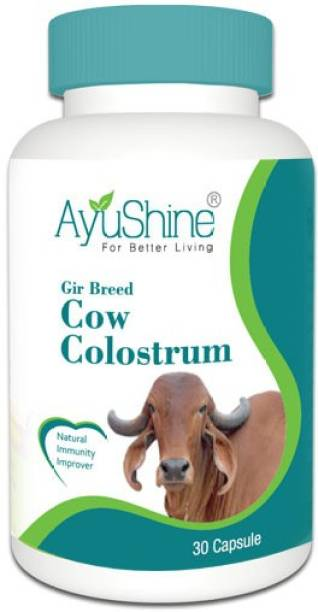 AyuShine Gir Breed Cow Colostrum   Provide Three Times More Vitamin D & Calcium than Whole Milk   Powerful Immune Factors