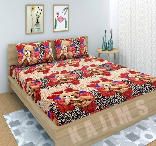 kajims 144 TC Polycotton Double 3D Printed Bedsheet
