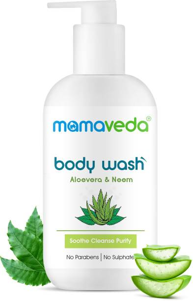mamaveda Aloevera and Neem Body Wash for Men and Women Daily Use | Body Wash for Acne and Pimples | No Parabens and Suplhate | All Skin Types