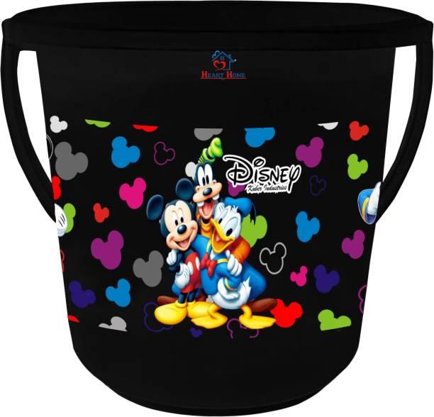 Heart Home Disney Team Mickey Print Multipurpose Plastic Bucket ,16 LTR (Black) -HS_35_ 17396 16 L Plastic Bucket