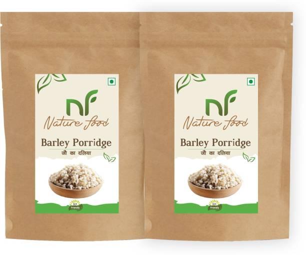 Nature food Best Quality Barley Porridge / Jau Daliya - 1kg (500gmx2)