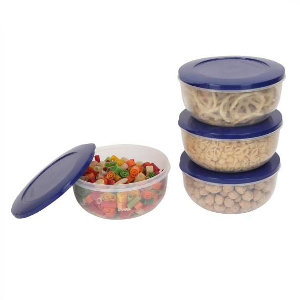 Cutting EDGE Set of 4 | 400 ML | Dark Blue | Eco-Storage Plastic Container Set for Kitchen & Refrigerator | BPA Free | Multipurpose | Food Safe | Toxin Free | Reusable & Recyclable  - 400 Plastic Utility Container