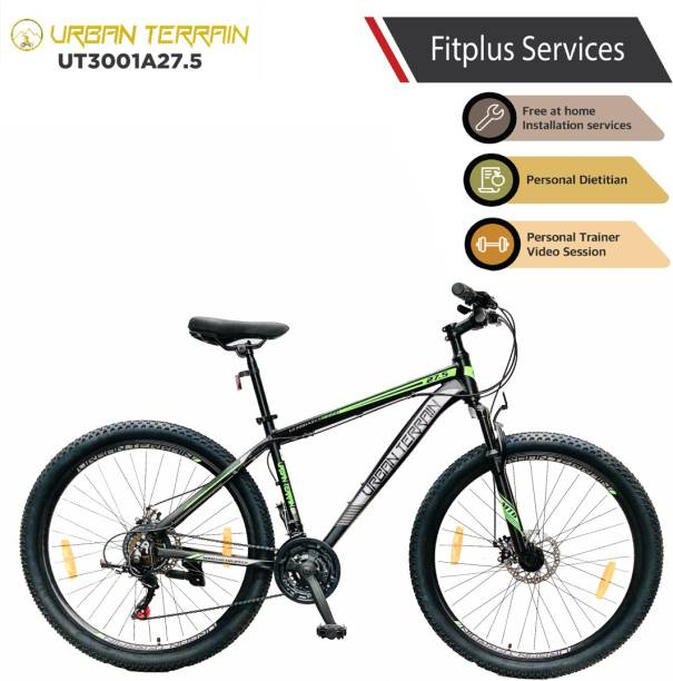 Urban Terrain UT3001A27.5 Alloy MTB with 21 Shimano Gear and Installation services 27.5 T Mountain/Hardtail Cycle