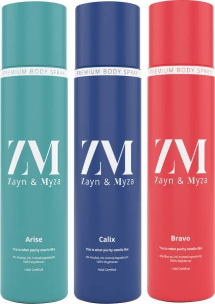 ZM Zayn & Myza Arise, Calix, Bravo No Alcohol Body Spray  -  For Men