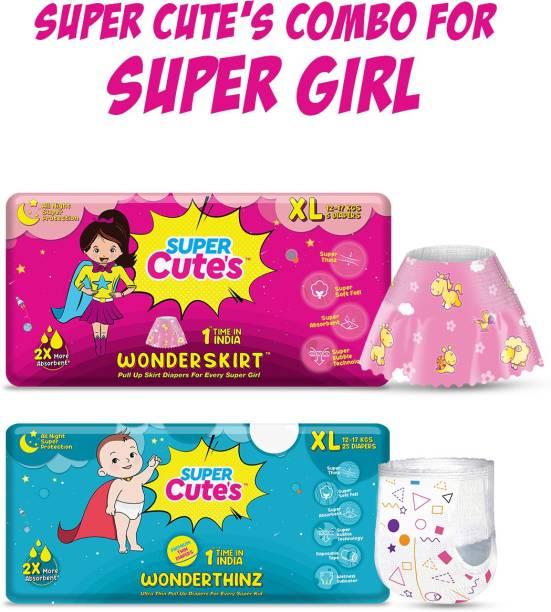 Super Cute's Combo of Wonderskirts & Wonderthinz 9-14 kg - XL