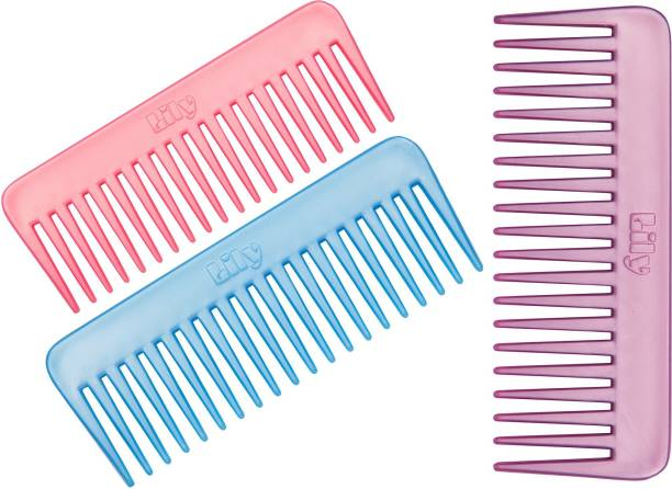 LILY Wide Teeth Shampoo Combs for Women,