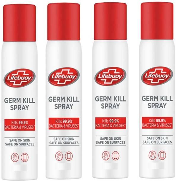 LIFEBUOY Germ Kills Spray Total Kills Bacteria Viruses 4X85 ml Sanitizer Spray Pump Dispenser