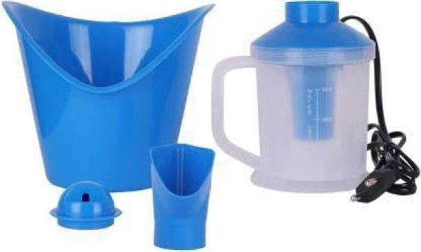 Saubhagye 3 in 1 Steam Vaporizer Nose Steamer, Cough Steamer, Nozzle Inhaler & Nose Vaporizer, Facial Steamer Vaporizer (White,Blue) Vaporizer (white,blue) Vaporizer