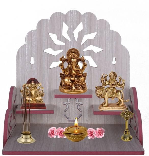 mahavir Eco products Wooden Singhasan Temple for God, Laddu Gopal Sinhasan for Pooja Mandir, Singhasan for Diwali, Durga Pooja, Navratri, Ganesh Chaturthi - Multicolor (Red) Engineered Wood Home Temple Engineered Wood Home Temple (Height: 29 cm) 4.635 Ratings & 6 Reviews Engineered Wood Home Temple
