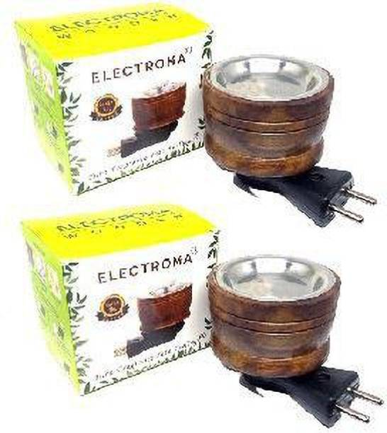 electroma Wood KapurDani W-02 (Pack of 2) Wooden Incense Holder