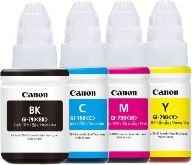 Canon INK BOOTLE Black + Tri Color Combo Pack Ink Bottle