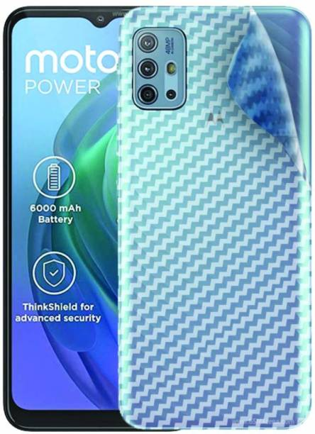 BRIGHTRON moto g10 power Ultra Thin Slim Fit 3M Clear Transparent 3D Carbon Fiber Back Skin Rear Wrap Not Glass Screen Guard/Protector Sticker Mobile Skin