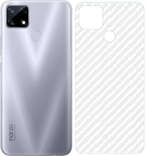 BRIGHTRON Ultra Thin Slim Fit 3M Clear Transparent 3D Carbon Fiber Back Skin Rear Wrap Not Glass Screen Guard/Protector Sticker For Realme narzo 20 : Realme C12 : Realme Narzo 30A : Realme C25 : Realme C25s Mobile Skin