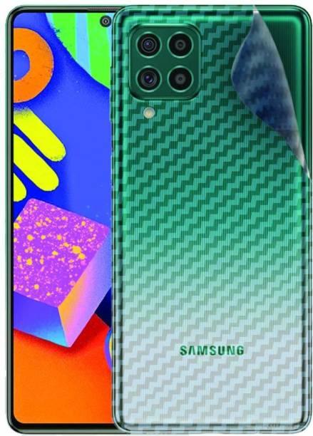 GLASS STAR samsung galaxy f62 Ultra Thin Slim Fit 3M Clear Transparent 3D Carbon Fiber Back Skin Rear Wrap Not Glass Screen Guard/Protector Sticker Mobile Skin