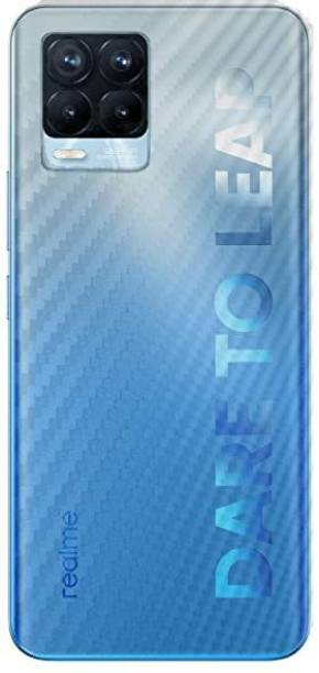 BRIGHTRON Realme 8 Ultra Thin Slim Fit 3M Clear Transparent 3D Carbon Fiber Back Skin Rear Wrap Not Glass Screen Guard/Protector Sticker Mobile Skin