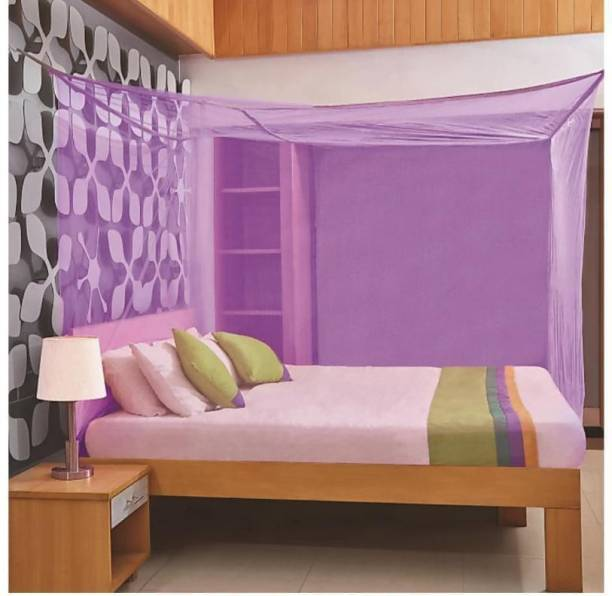 AP KARUR Nylon Adults Mosquito Net Pest Control Comfortable for Family, 100% Air Flows (King or Queen Size) Mosquito Net Mosquito Net