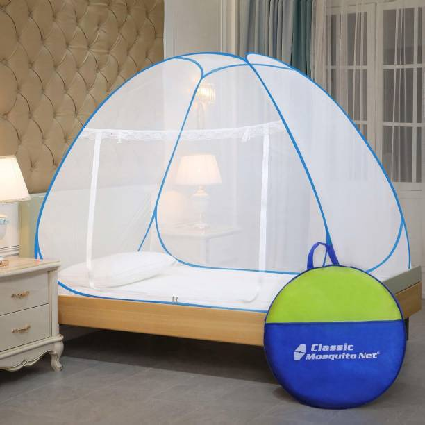 Classic Mosquito Net Polyester Adults Single-Bed (Blue) Mosquito Net