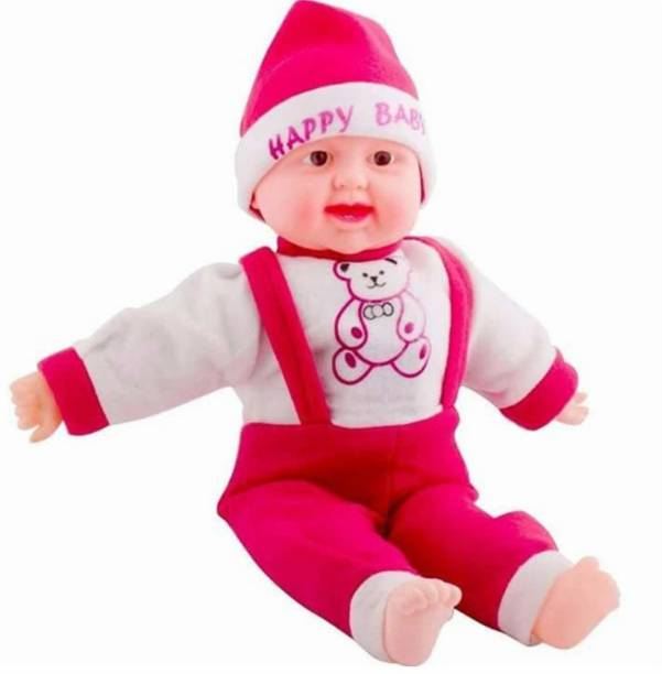 BROMIND Kids Baby Doll Toy Singing Songs and Poem Baby Girl Doll Large Eye Musical Touch Sensors and Laughing Girl & boy