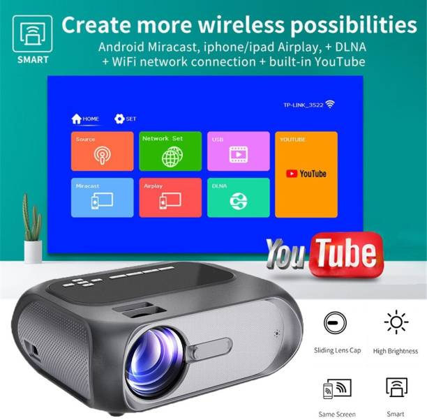 IBS T7 HD 1080P Smart Home Theater Projector Multimedia Multi-Screen Interactive (7000 lm) Portable Projector