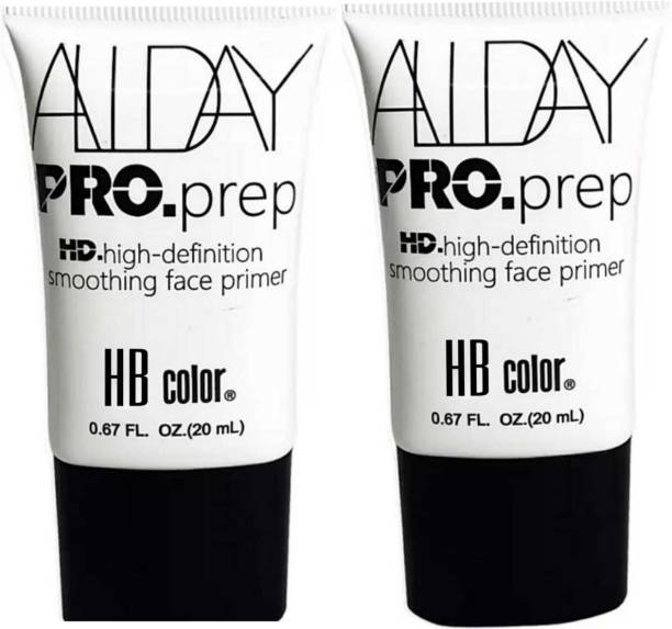 HB HD High Definition Smoothing Face Primer (Pack of 2) Primer  - 40 ml