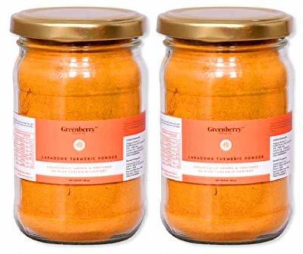 Greenberry Organics Lakadong Turmeric Powder, Organically Grown & Procured, 8% High Curcumin Content 100 GM Pack of 2