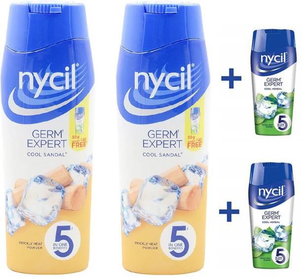 NYCIL Germ Expert Prickly Heat COOL SANDAL Powder - 2 x 150 g Packs