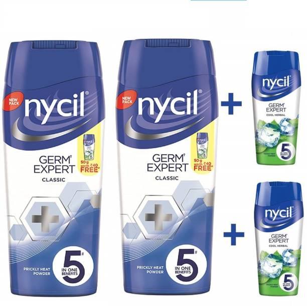 NYCIL Germ Expert Prickly Heat CLASSIC Powder - 2 x 150 g Packs
