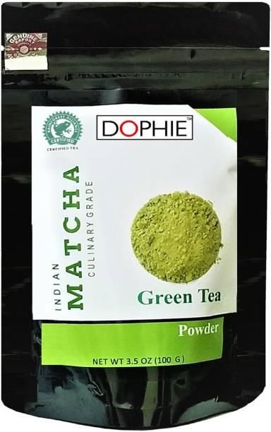 dophie Matcha Green Tea Powder Culinary Grade - Excellent Weight Loss - More Antioxidants than Green Tea Bags- 100g[PACK-1] Unflavoured Matcha Tea Pouch